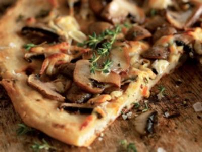 Рецепт Постная пицца с грибами