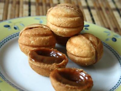 Рецепт печенья орешки с вареной сгущенкой с фото